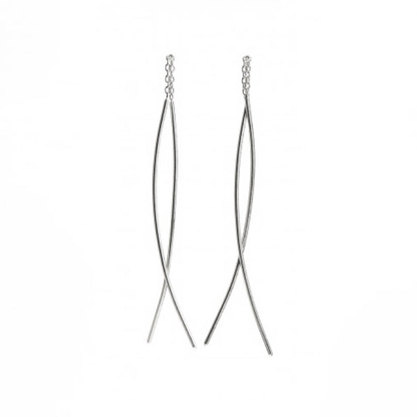 NEW! Long Classic Thread-Thru Earrings in Sterling Silver by Shaesby