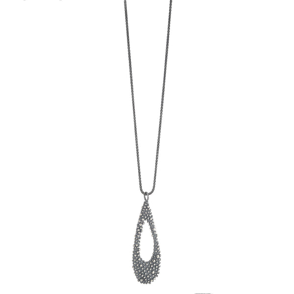 NEW! Oxidized Silver Bumpy Tear Drop Pendant by Dahlia Kanner