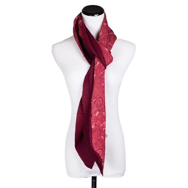SALE! Maroon Scarf by Janice Kissinger