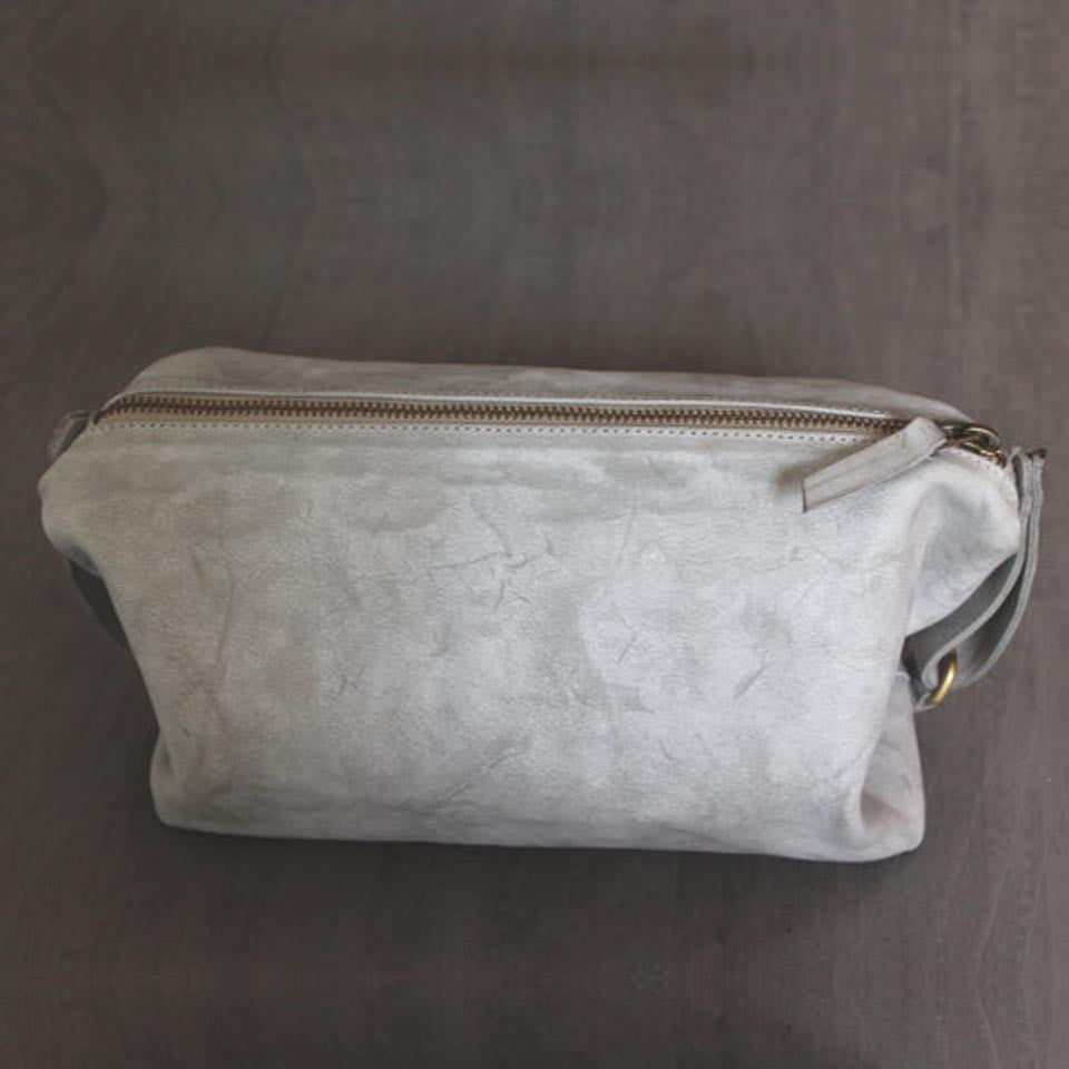 Martin Bag in Stone Washed Grey by Lady Bird Design - Fire Opal - 1