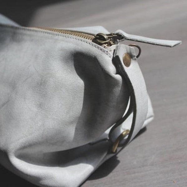 Martin Bag in Stone Washed Grey by Lady Bird Design - Fire Opal - 2