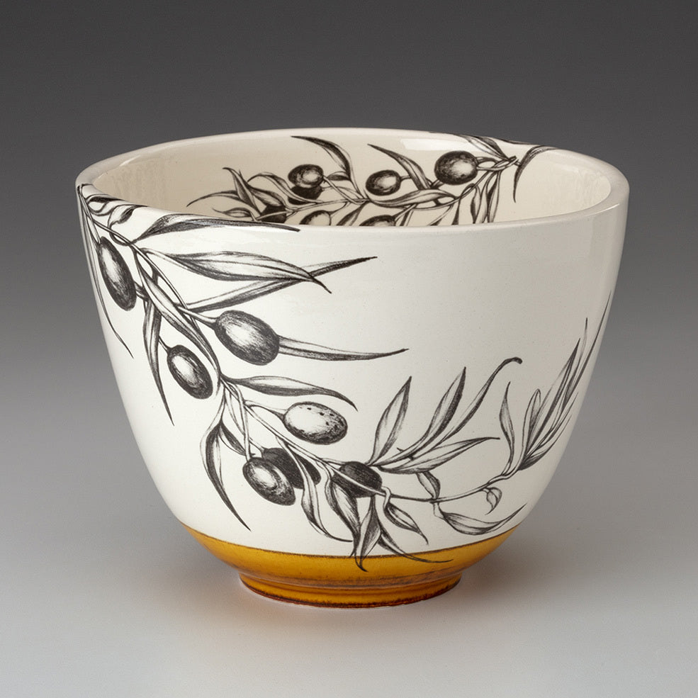 NEW! Medium Bowl with Olive Branch by Laura Zindel
