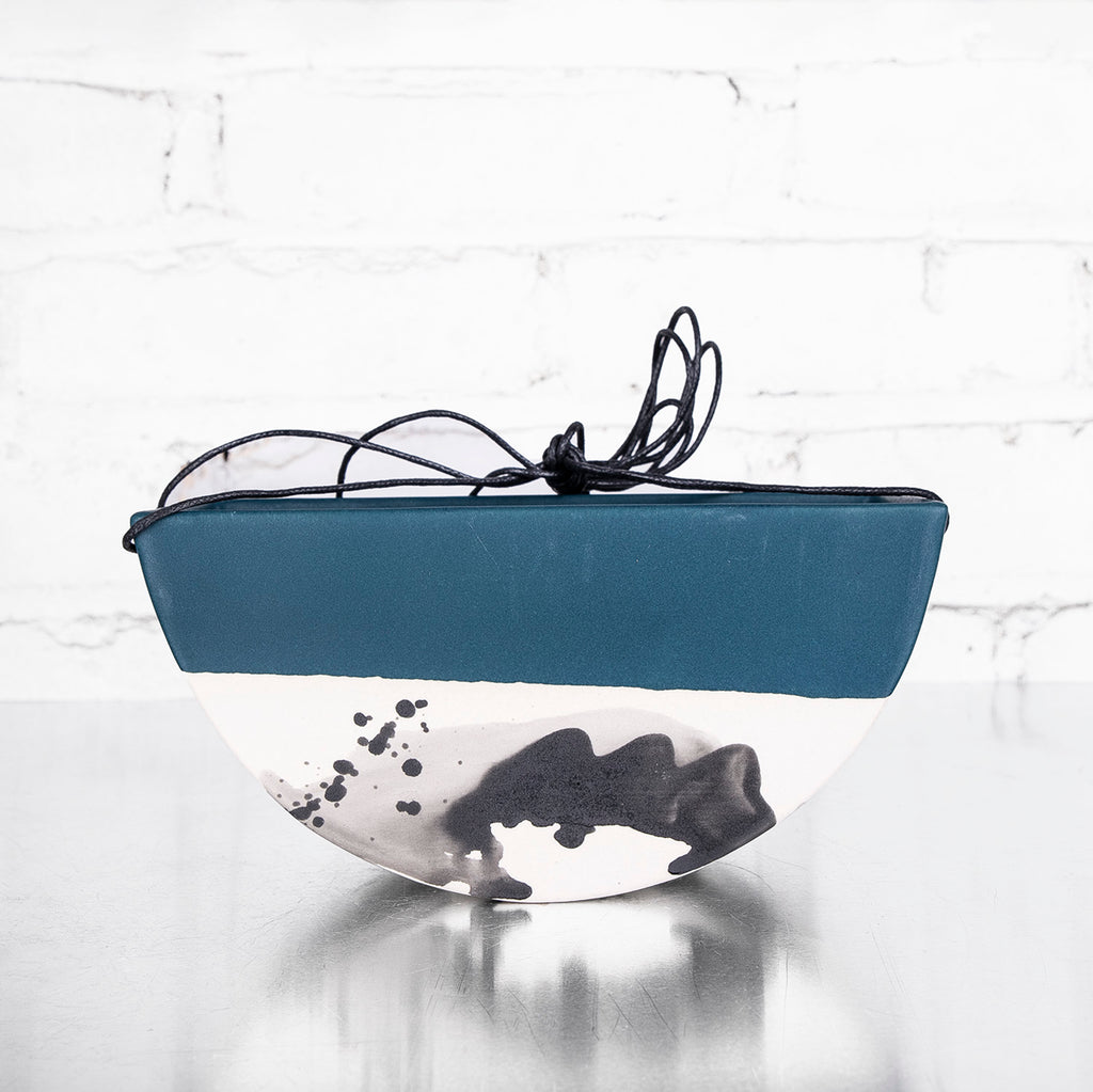 NEW! Medium Half Moon Hanging Planter in Deep Ocean by Elizabeth Benotti