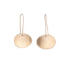 NEW! Medium Hammered Concave Oval Earrings in 14k Gold Vermeil by Lisa Crowder