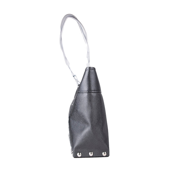 NEW! Medium Split Bag in Charcoal/Chrome by Hardwear by Renee