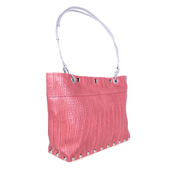 NEW! Medium Split Bag in Pink Gator by Hardwear by Renee