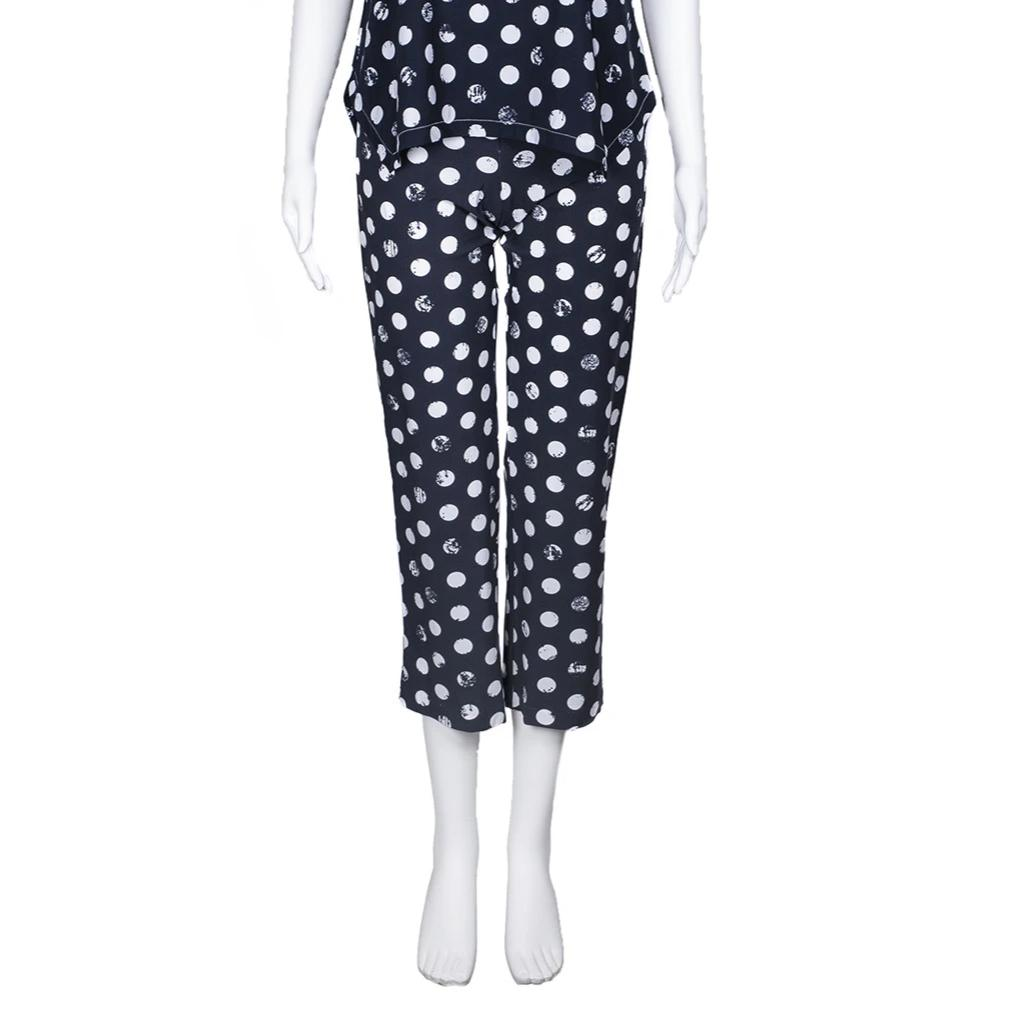NEW! Traveler Crop Pant in Shadow Edo Dot Print by Porto