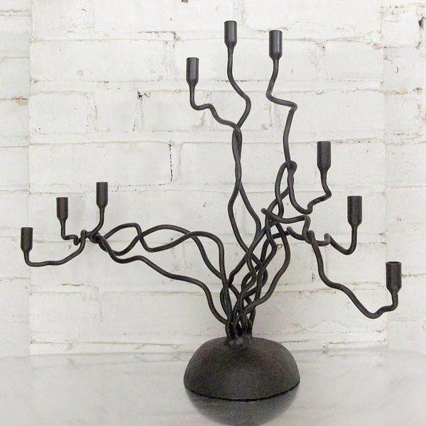 Tree of Life Menorah by Sekoya - Fire Opal