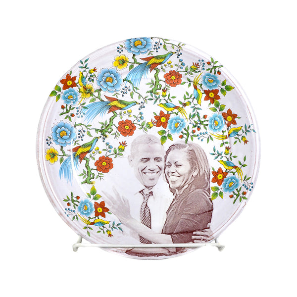 NEW! Barack & Michelle Obama Plate by Justin Rothshank