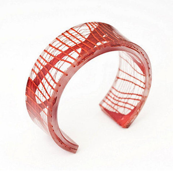 Narrow Cuff - Fire Opal - 1