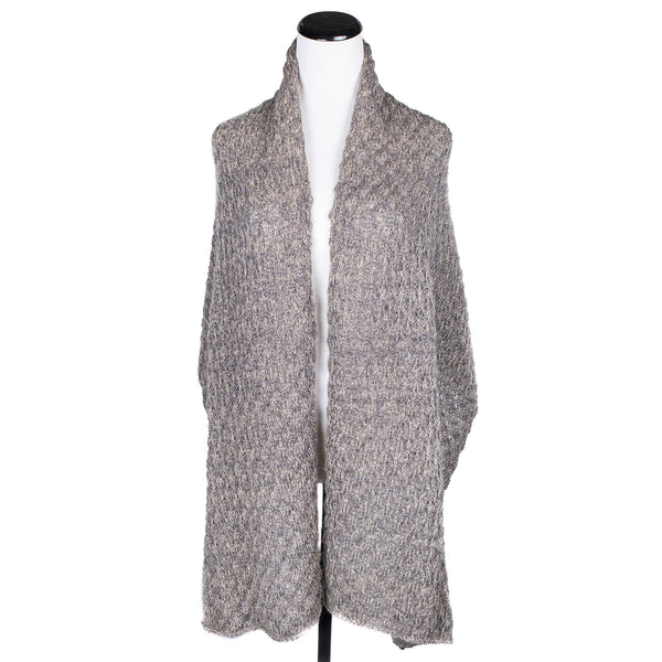 NEW! Misty Long Scarf in Camel/Pewter by Olena Zylak