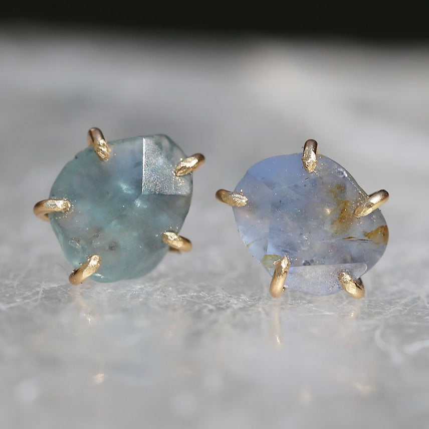 NEW! Small Montana Sapphire Studs by Variance Objects