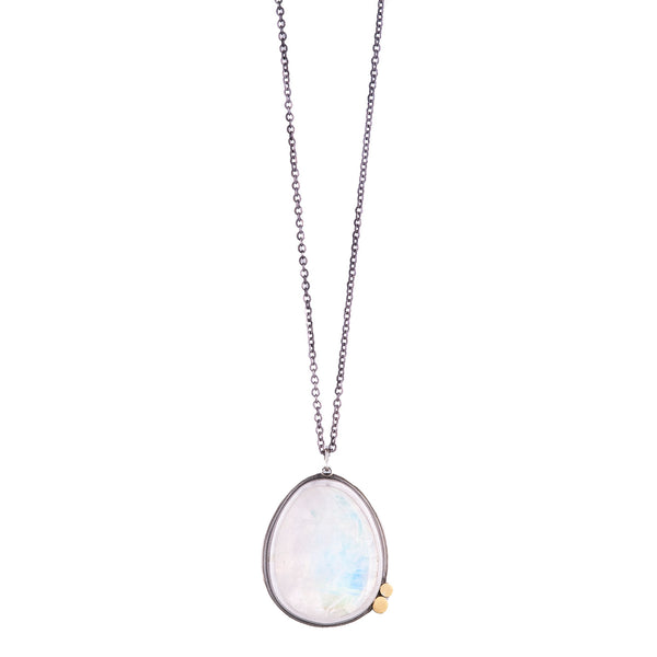 NEW! Rosecut Moonstone Necklace with 22k Dots by Ananda Khalsa