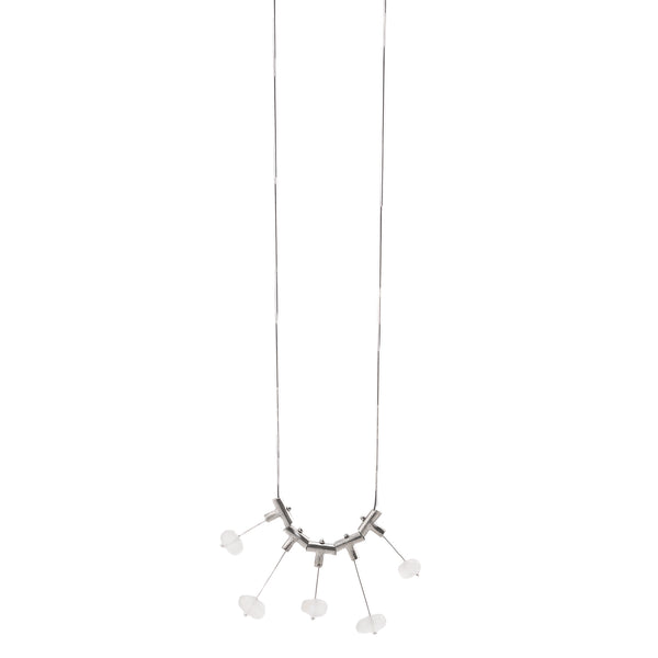 NEW! Up and Down Cross Pivot Moonstone Necklace by Serena Kojimoto