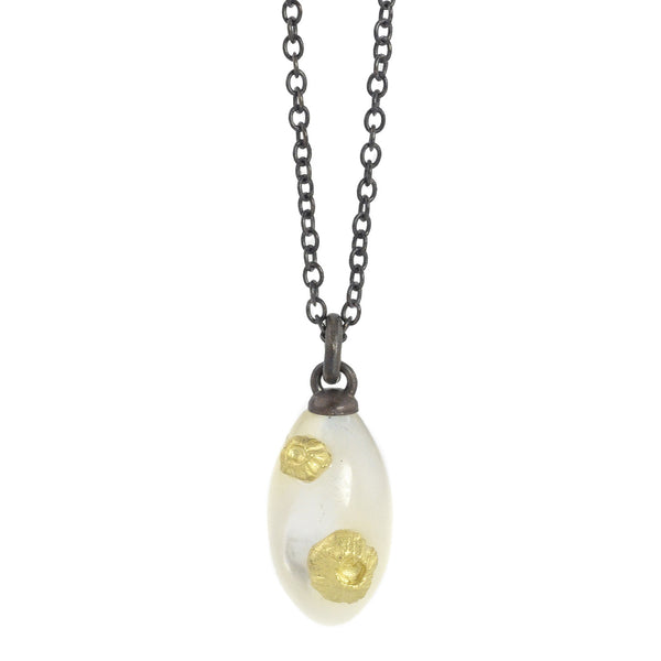 NEW! Little Mother of Pearl Necklace with Barnacles Necklace by Hannah Blount