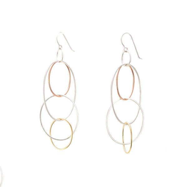 NEW! Long Organic Multi Hoop Earrings by Colleen Mauer Designs