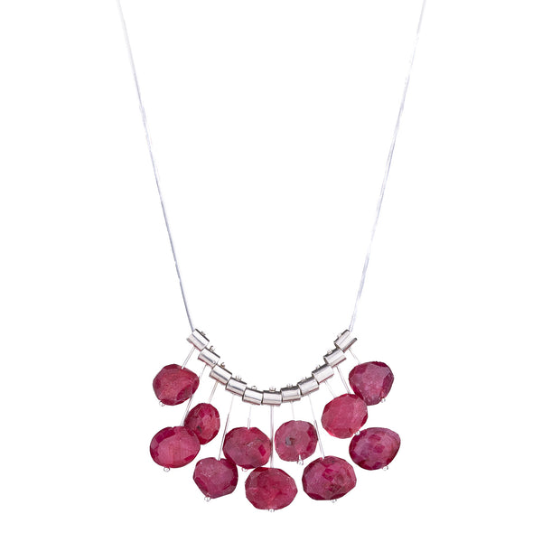 NEW! Multi Pivot Ruby Necklace by Serena Kojimoto