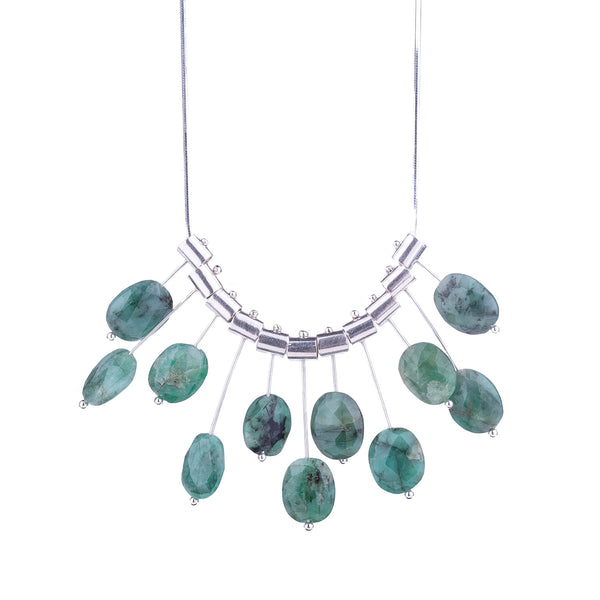 NEW! Multi Pivot Emerald Necklace by Serena Kojimoto