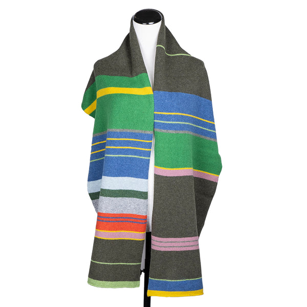 NEW! Multi-Striped Scarf by Katie Mawson