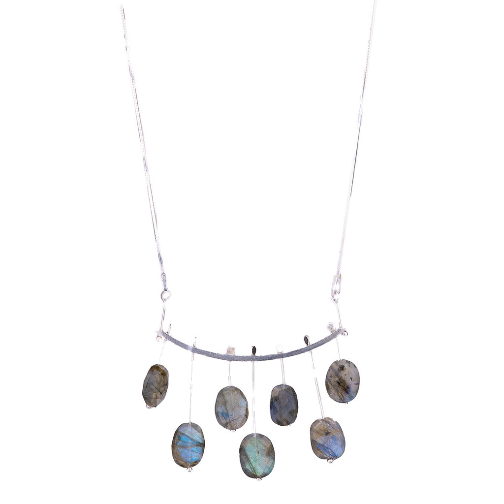 NEW! Labradorite Music Notes Necklace by Serena Kojimoto