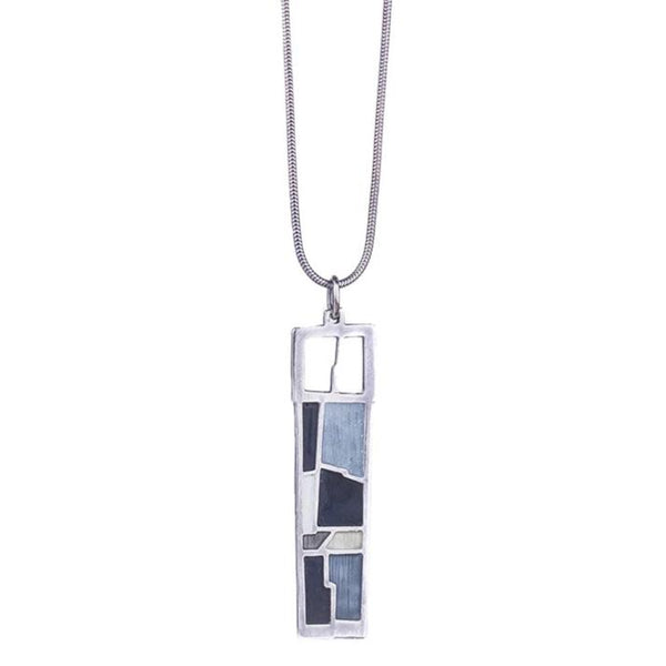 NEW! Rectangular Enamel Pendant by Carly Wright