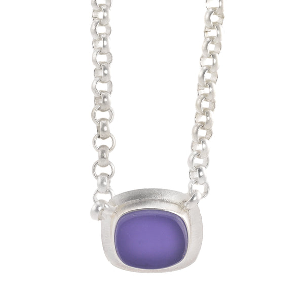 NEW! The Original Beach Glass Necklace in Purple by Amy Faust