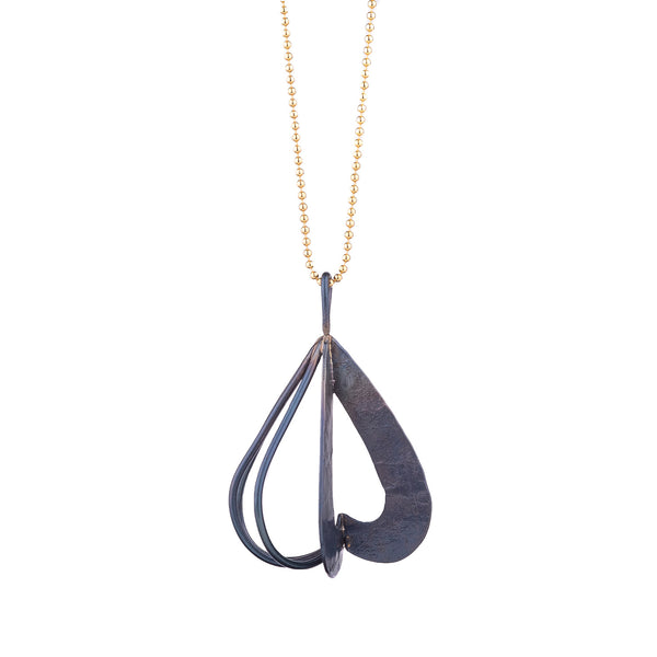 NEW! Steel Pendant Necklace by Leia Zumbro