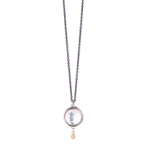 NEW! Rosecut Clear Topaz Necklace by Ananda Khalsa