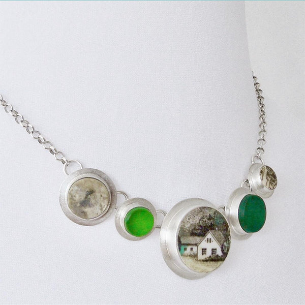 NEW! Small Green Meadow Necklace by Amy Faust