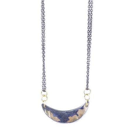 NEW! Gilded Crescent Swing Necklace by Sarah McGuire