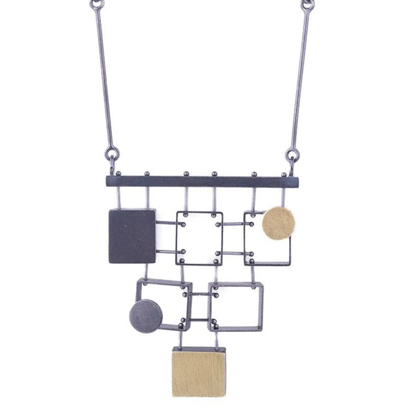 NEW! Stacked Multi Rectangle Necklace by Ashka Dymel