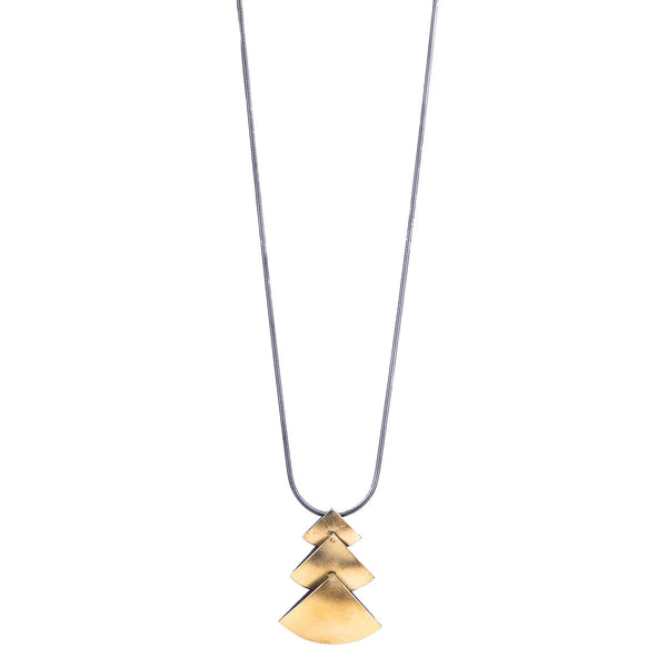 NEW! Triple Fan Pendant in Gold by Thea Izzi
