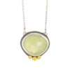 NEW! Rosecut Prehnite Necklace by Ananda Khalsa
