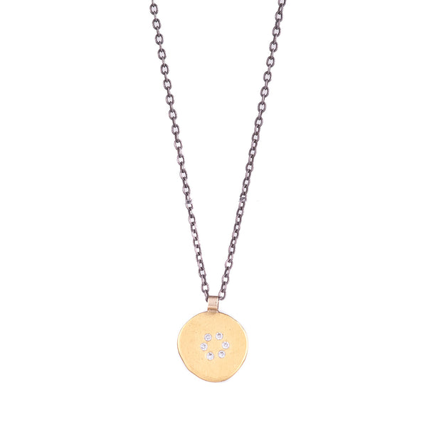 NEW! Diamond Circle Pendant by Ananda Khalsa