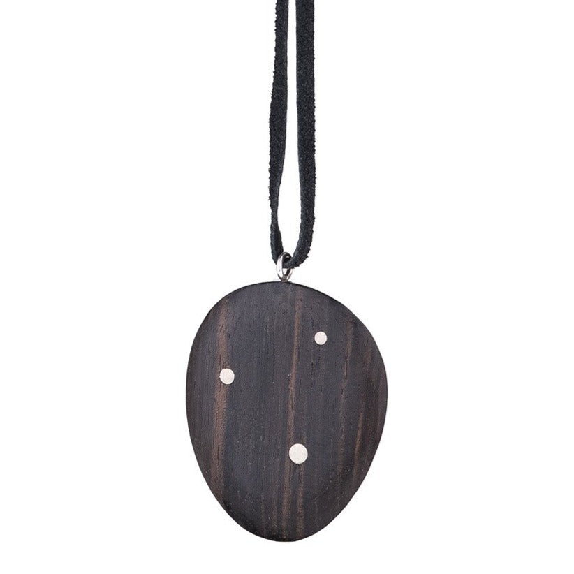 NEW! Wood Totem Inlay Necklace by Marion Cage