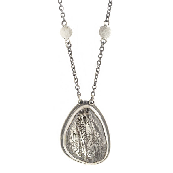 NEW! Rosecut Tourmalinated Quartz Necklace by Ananda Khalsa