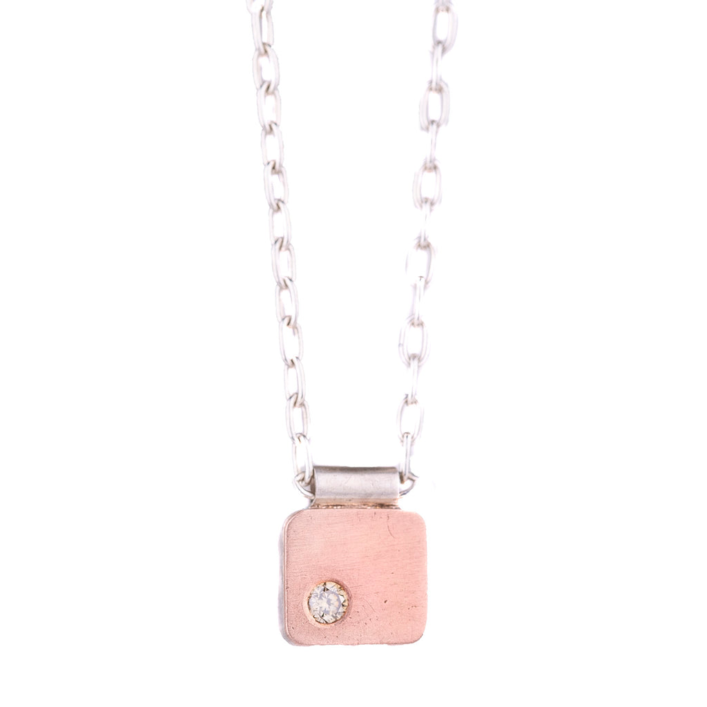 NEW! Pink Gold Cell Pendant with Diamond by EC Design