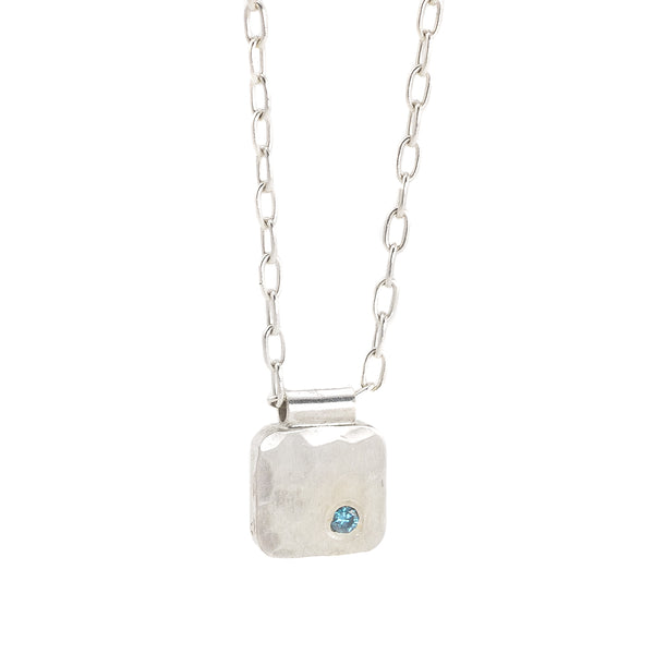 NEW! Cell Pendant with Teal Diamond by EC Design