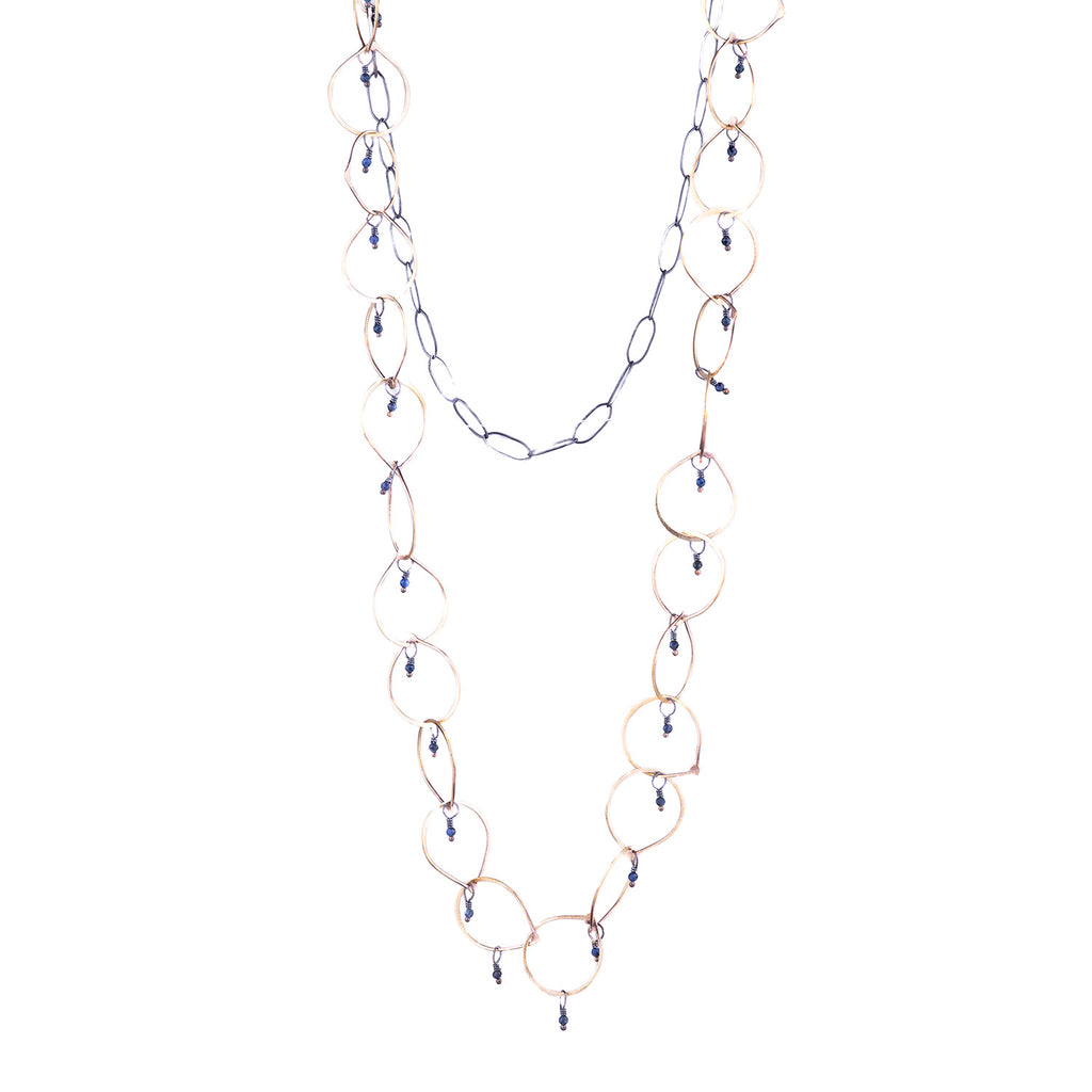 NEW! Hammered Chain with Chalcedony Necklace by Eric Silva