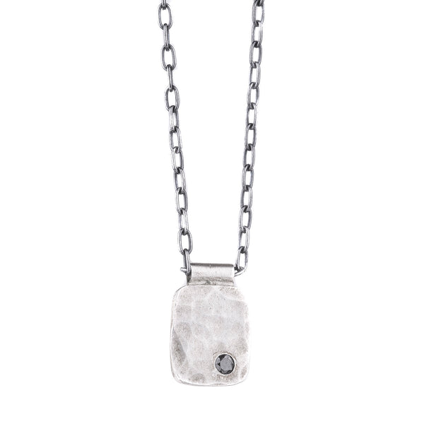 NEW! Rectangle Cell Pendant with Black Diamond by EC Design