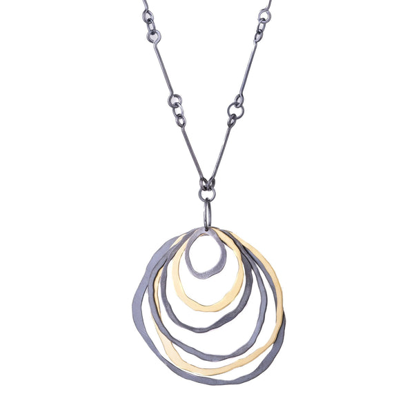 NEW! 6 Layer RC Two Tone Necklace by Lisa Crowder