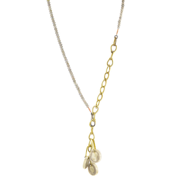 Shed Antler, Brass and Labradorite Necklace by Eric Silva