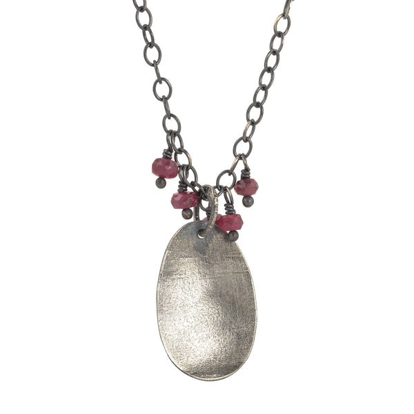 NEW! Ruby and Silver Pendant Necklace by Eric Silva