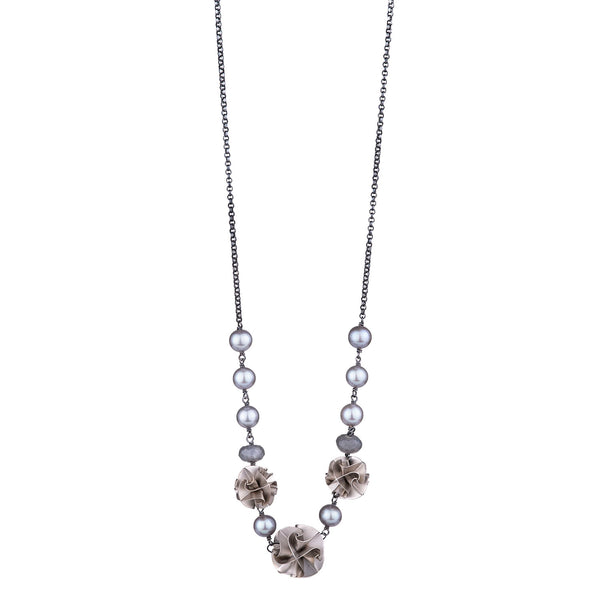 NEW! 3 Bead Flora Necklace by Chihiro Makio - 314 Studio