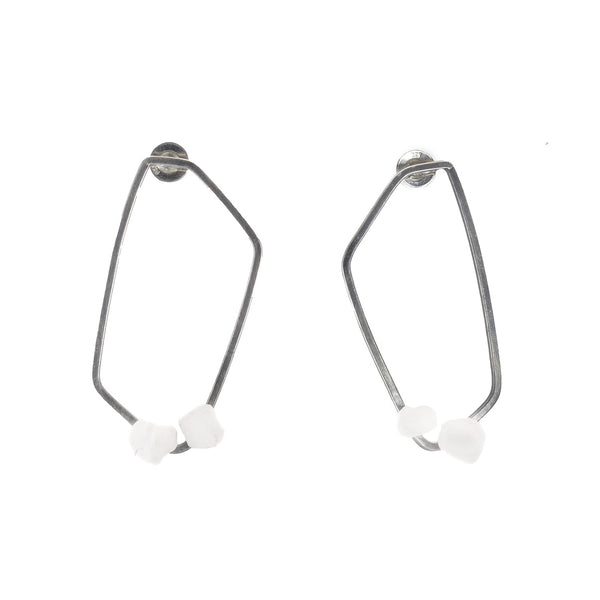 NEW! Polygon Nugget Post Earrings by Beverly Tadeu