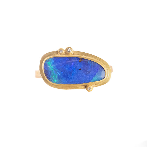 NEW! Boulder Opal Ring by Ananda Khalsa