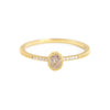 NEW! Blockette Oval Light Opaque Diamond Pave Ring by Dawes Designs