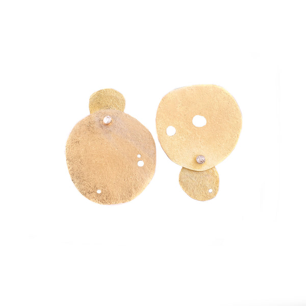 NEW! Opposite Circle Post Earrings by Melle Finelli