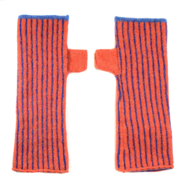 Vertical Striped Fingerless Glove (in Multiple Colors) by Katie Mawson