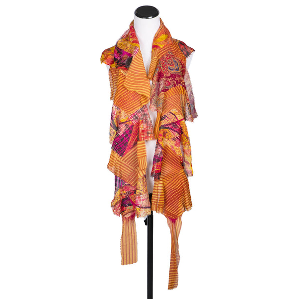 NEW! Flutter Scarf in Orange & Gold by B. Felt